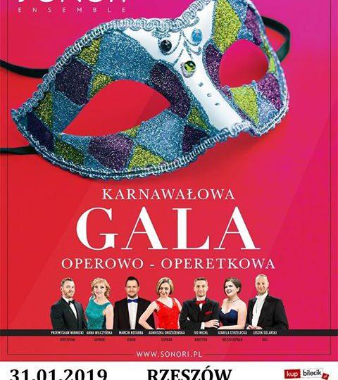 Rzeszów: Karnawałowa gala operowo-operetkowa