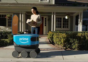 Amazon rozpoczyna testy jeżdżących, autonomicznych robotów do dostarczania paczek