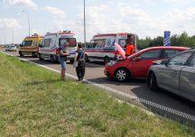 Przeworsk: Na autostradzie A4 zderzyły się trzy samochody