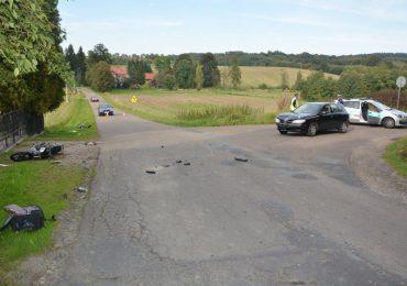Jasło: Wypadek z udziałem nietrzeźwego motorowerzysty