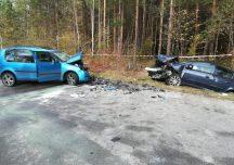 Kolbuszowa: Czołowe zderzenie samochodów w Niwiskach