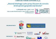 Sanok: Przypominamy – już wkrótce I Forum Gospodarcze