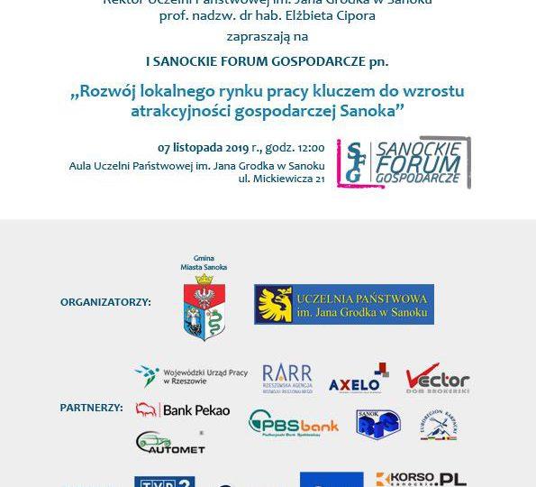 Sanok: Przypominamy - już wkrótce I Forum Gospodarcze