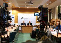 Konferencja prasowa Ministra Rolnictwa Jana Krzysztofa Ardanowskiego oraz Prezesa ARiMR Tomasza Nowakowskiego