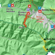 Ustrzyki Dolne: Nowy szlak turystyczny w Bieszczadach.Wiedzie z Przełęczy Wyżnej na Dział