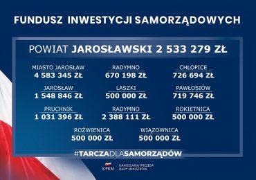 Jarosław: Fundusz Inwestycji Samorządowych - 16 milionów trafi do powiatu jarosławskiego