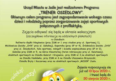 """Jasło: Rusza kolejna edycja programu """"Trener Osiedlowy"""""""