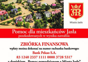 """Jasło: Trwa zbiórka """"Pomoc powodzianom z Miasta Jasła"""""""