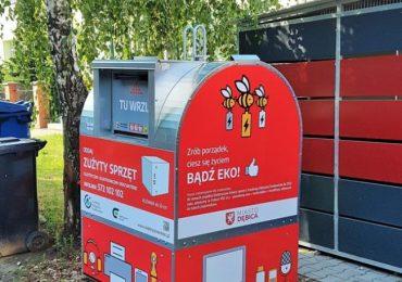 Dębica: Pierwszy odbiór elektrośmieci z pojemników ustawionych na terenie miasta
