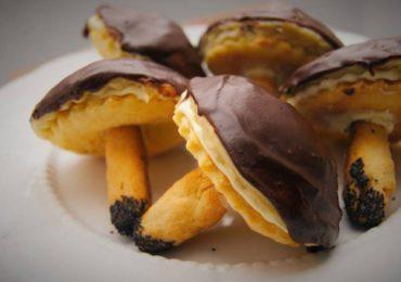 Kulinaria: Ciasteczka - grzybki