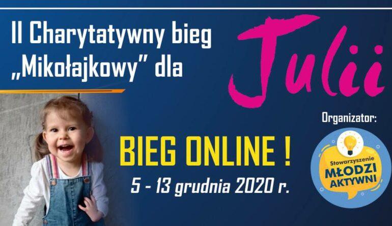 Ropczyce: Mikołajkowy bieg on-line dla Julii.