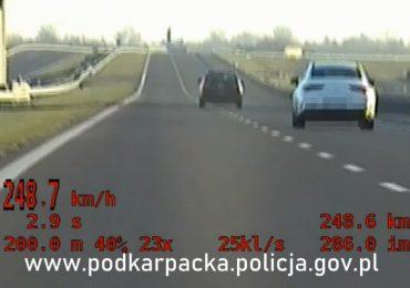 Łańcut: Pijany kierowca jechał A4 250 km/h !