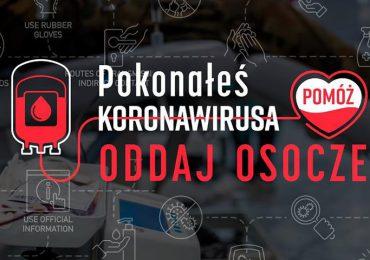 Polska: Pokonałeś COVID 19? Pomóż innym i oddaj osocze