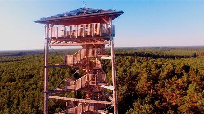 Ustrzyki Dolne: Wieża widokowa na szczycie Jeleniowatego