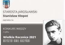 Jarosław: Konkurs o Krzysztofie Kamilu Baczyńskim – Wielkie Rocznice 2021