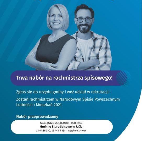Jasło: Narodowy Spis Powszechny Ludności i Mieszkań 2021 – nabór rachmistrzów w Jaśle