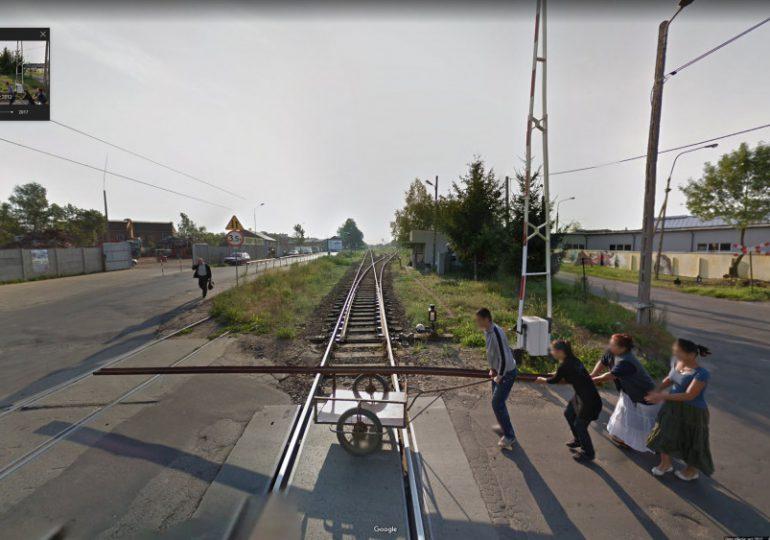 Krosno: Kradzież szyn kolejowych uwieczniona na Google Maps