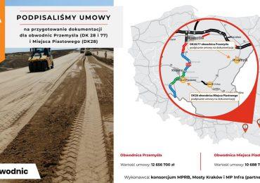 Rzeszów: Umowy na dokumentację dla obwodnic Przemyśla i Miejsca Piastowego podpisane