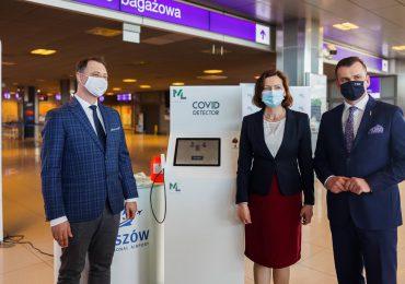 Rzeszów: Port Lotniczy w Jasionce przetestuje innowacyjną technologię wykrywania zakażeń wirusem SARS-CoV-2 [fotogaleria]