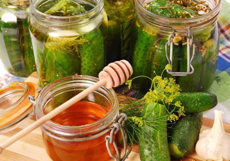 Kulinaria: Ogórki w miodzie do słoików na zimę