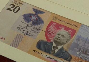 Polska: NBP wypuszcza banknot 20 zł z Lechem Kaczyńskim