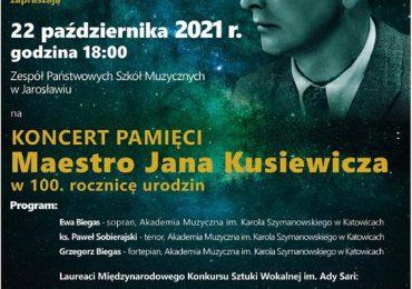 Jarosław: Przełożony koncert pamięci Jana Kusiewicza odbędzie się 22 października