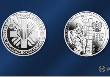 Biznes: 30-lecie wznowienia działalności Caritas Polska na srebrnej monecie NBP